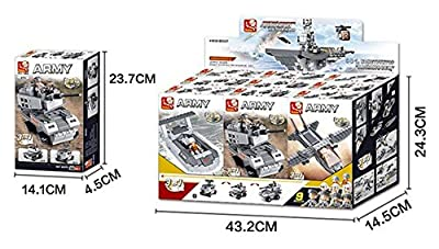 """Sluban Aircraft Carrier 9-in-1 """"Battle Group"""" Building Kit (1001 Pieces)"""