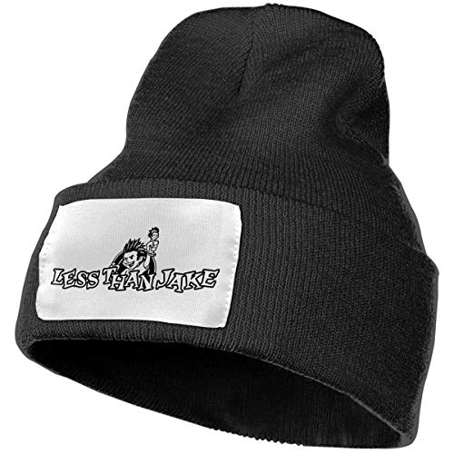 (SmallHan Mens & Womens Less Than Jake Logo Skull Beanie Hats Winter Knitted Caps Soft Warm Ski Hat Black)