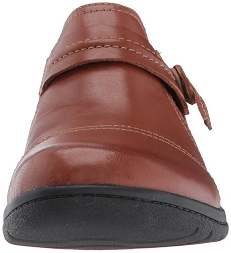 Donna Clarks Leather Colore Da Tan Madi Cheyn Scarpe Nero Dark wqUqIp6x