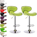 Kitchen Bar Frame WOLTU ABSX1002agn Contemporary Furniture Bar Stool Swivel Apple Green Bonded Leather Adjustable Hydraulic Barstools Work Stools Kitchen Stools Metal Frame,Set of 2