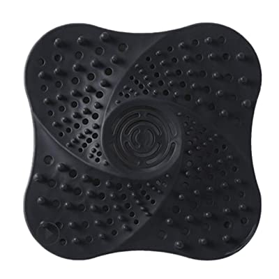 Hair Catcher, 5.1-inch TPR Hair Stopper Shower Drain Covers, Stop-A-Clog Drain Protectors with Suction Cups, Suits for Bathroom, Bathtub & Kitchen, Easy to Install and Clean, Keep Hair Out of Drains : Sports & Outdoors