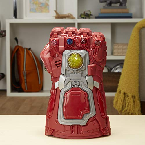 51G5B dkRyL - Avengers Marvel Endgame Red Infinity Gauntlet Electronic Fist Roleplay Toy with Lights and Sounds for Kids Ages 5 and Up