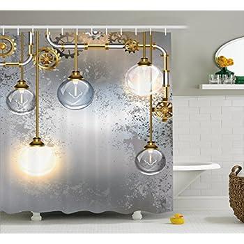 Amazon.com: Apartment Decor Steampunk Bathroom Rustic Decorations ...