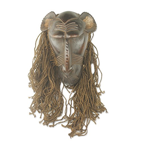 II' African Wood And Jute Mask ()