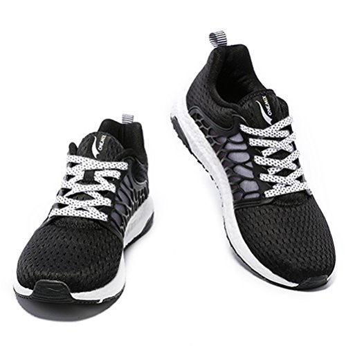 YiDiar Breathable Männer Athletic Trail Laufschuhe Outdoor Walking Jogging Training Sport Turnschuhe Schwarz-Weiss