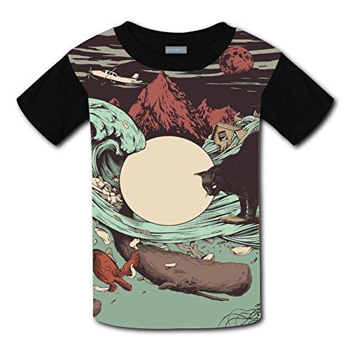 Yangjio Tee Shirt Bad Sea World Costume Xl Short Sleeve For Children ()