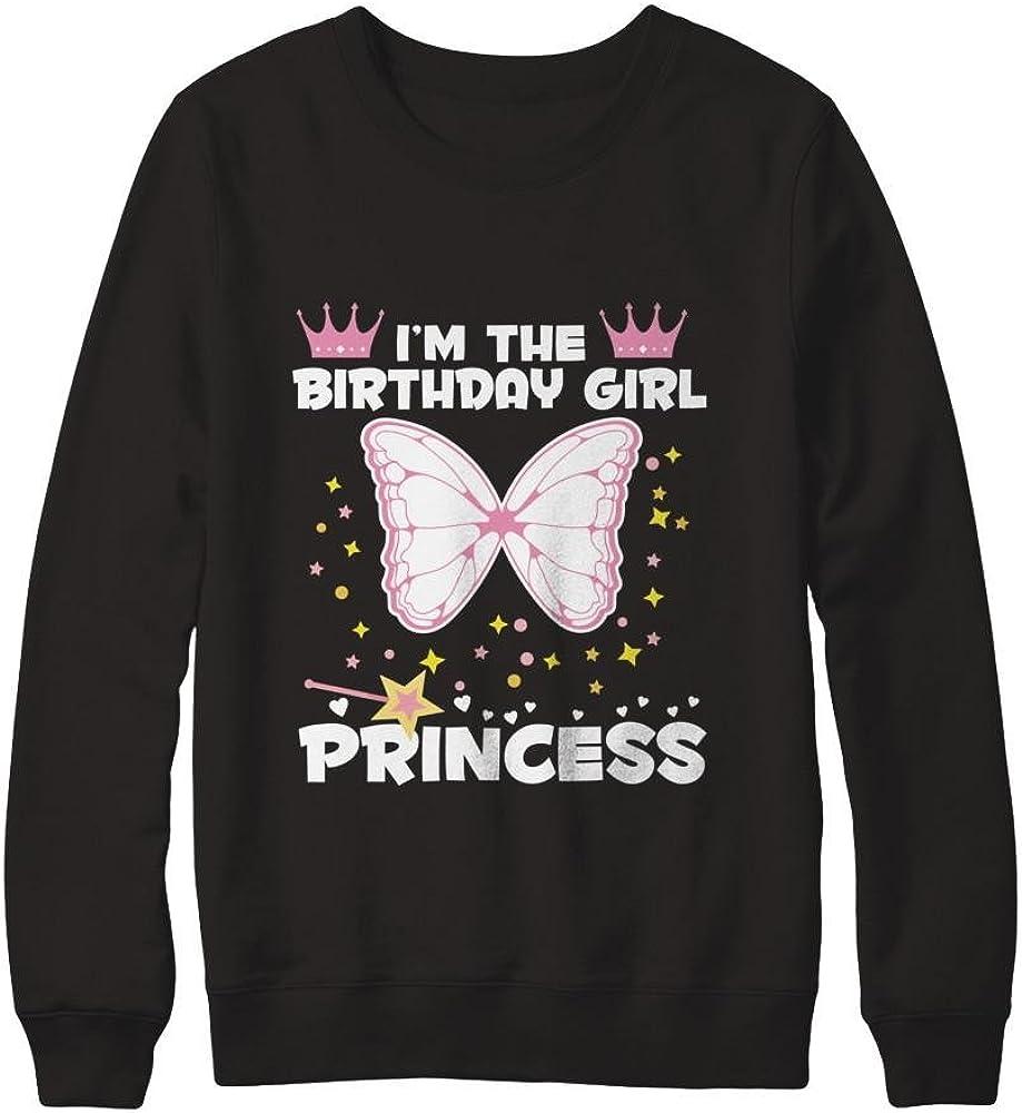 Pullover Sweatshirt Teely Shop Men/'s Womans Butterfly Princess Birthday Gildan