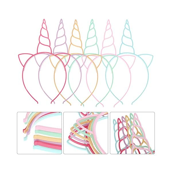 FANKUTOYS 12 Pack Unicorn Headbands Hair Hoop Girls Party Decoration Headdress Birthday Party Favors Unicorn Photo Props 5