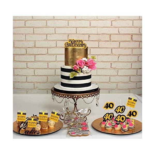 Amazing 24 Pcs Laventy 40Th Birthday Cake Topper Hello 40 Cake Topper 40Th Funny Birthday Cards Online Elaedamsfinfo
