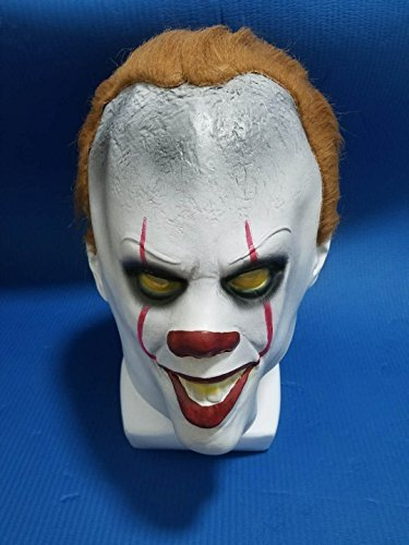 Pennywise Stephen Kings It Mask Fire wolf Halloween Decoration Horror Clown Mask