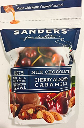 Sanders Chocolate Covered Cherry Almond Caramels - 24oz Value Bag!!!