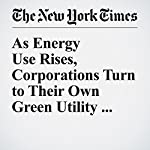 As Energy Use Rises, Corporations Turn to Their Own Green Utility Sources | Diane Cardwell