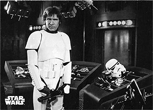 Han Solo Harrison Ford trading card Star Wars Black White Topps 2018#81 Storm Trooper Outfit