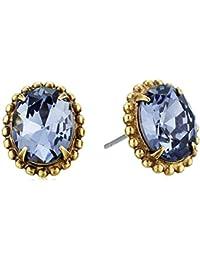 Oval Crystal Stud Earrings