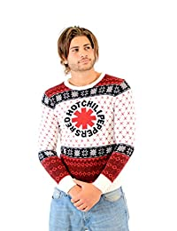 Red Hot Chili Peppers Logo Adult White Ugly Christmas Sweater