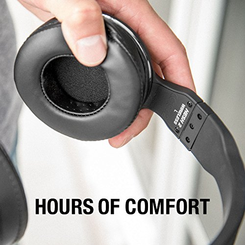 Skullcandy Hesh 2 Bluetooth Wireless Over-Ear Headphones with Microphone, Supreme Sound and Powerful Bass, 15-Hour Rechargeable Battery, Soft Synthetic Leather Ear Cushions, Black/Silver by Skullcandy (Image #2)