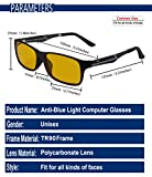 DUCO Glasses for video games 223 PRO Anti-glare protection anti-fatigue anti UV - Blue light blocking glasses for smartphone screens, computer or tv