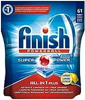Finish Todo en 1 Plus Lavavajillas Pastillas Limón - 61 ...