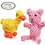 Creaker Puppy Dog Chew Toys, Animal Design Cotton Rope Dog Toys for Puppy Pet Play Chew and Training