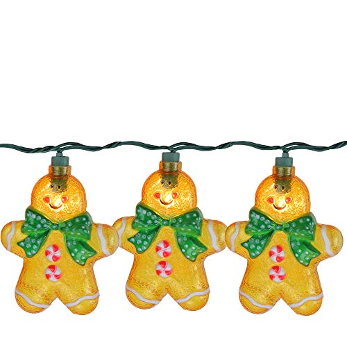 Northlight Novelty Lights, Brown (Lights Gingerbread Man)