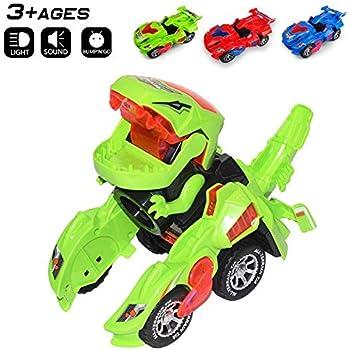 New Transforming Dinosaur Led Car Automat.. RcLigent Transforming Dinosaur Toy