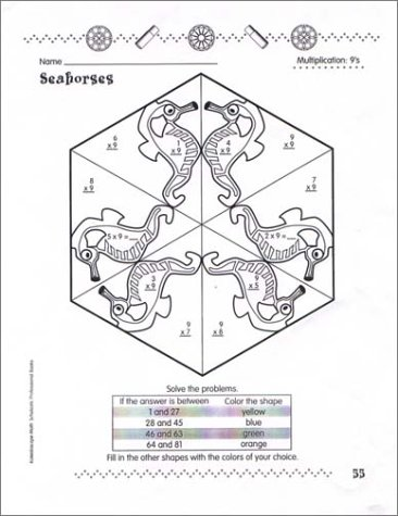 Counting Number worksheets math addition coloring worksheets : Amazon.com: Kaleidoscope Math, Grades 2-3 (9780439086769): Cindi ...