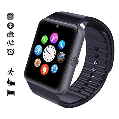 MallTEK Smartwatch Bluetooth, Smartwatch 1 54'' with SIM Card and Memory  Card Slot Smartwatch Band with Camera Facebook Wechat Pedometer Sleeping
