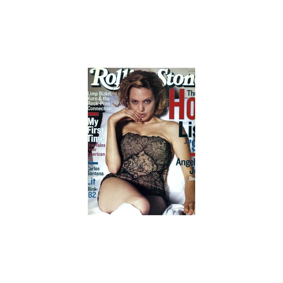 Rolling Stone August 19 1999 #819 Angelina Jolie Cover, Carlos Santana, Blink 182, Limp Bizkit Korn & the Rock Porn Connection