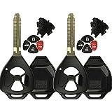 KeylessOption Keyless Entry Remote Fob Blank Key Blade Shell Case for Toyota RAV4 Venza Yaris Matrix Vibe xB(Pack of 2)