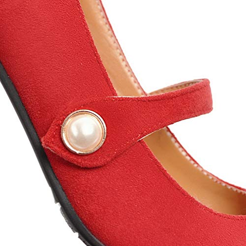 Red Urethane Shoes APL10483 BalaMasa Comfort Pumps Solid Casual Womens wgIFq8