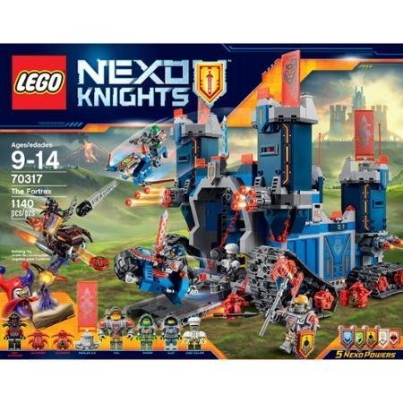 LEGO Nexo Knights The Fortrex with Movable Arms, Ladders, Toolkit, Frying Pan, Cup, Chicken leg, 3 Helmets and Chef Eclair's Chef
