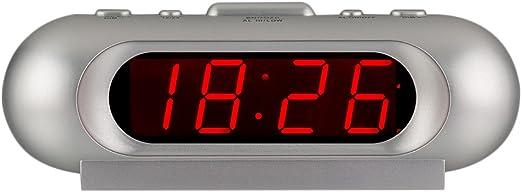 KWANWA 110 dB Super Ruidoso LED Digital Despertador para los ...