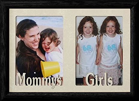 Amazon.com - 7x10 MOMMY\'S GIRLS ~ BLACK Frame ~ Holds two 4x6 or ...