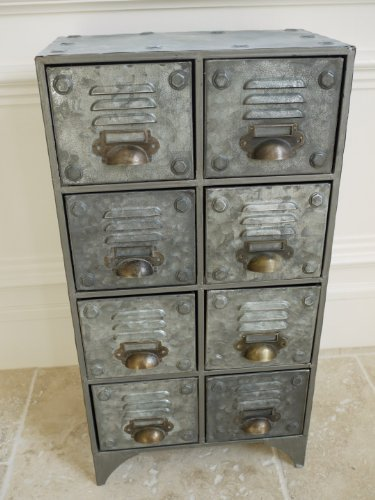 Ordinaire Industrial Style Aged Metal Drawer Chest Cabinet