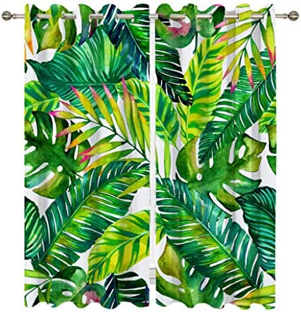 Goodbath Palm Leaves Window Curtains