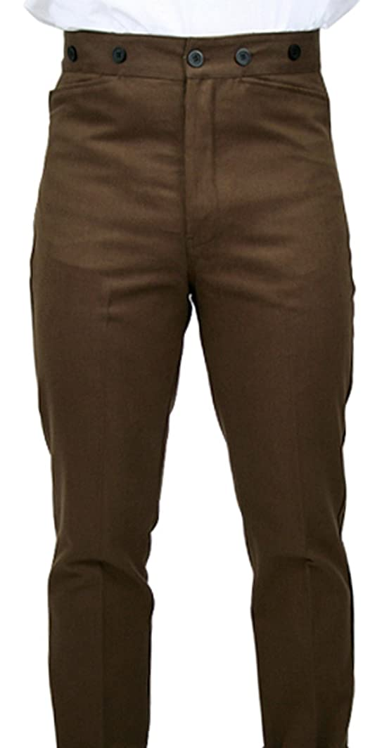 Edwardian Men's Pants 100% Brushed Cotton Trousers $59.95 AT vintagedancer.com