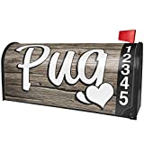 NEONBLOND Pug, Dog Breed China Magnetic Mailbox Cover Custom Numbers