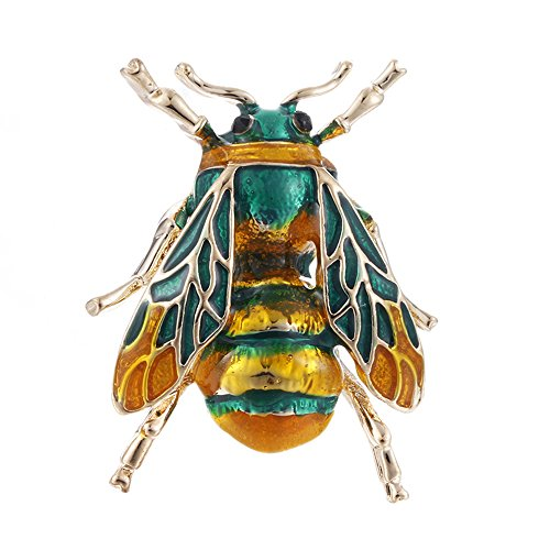 MINGHUA Enamel Cicada Collar Brooches Insect Corsage Brooch Pins for Unisex Clothing Accessories