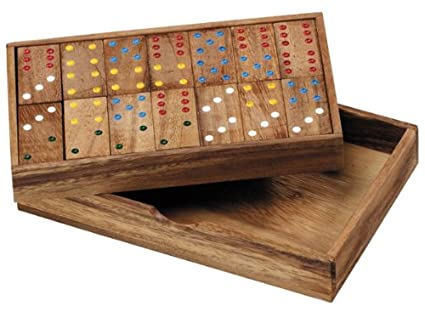 Amazon.com: Wooden Domino Game: Toys & Games
