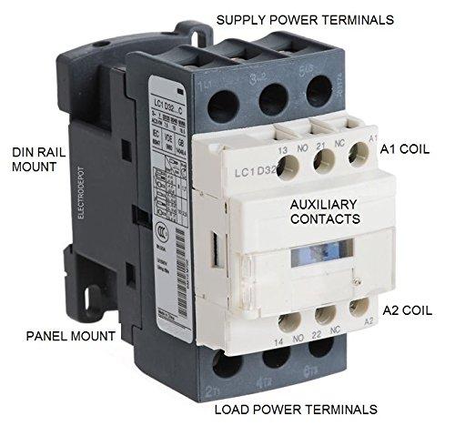12A AC3 3P 3 Main Poles 1 NO Aux Chint Contactor 24VDC 20A AC1