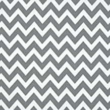 Remix Chevron Grey Fabric By The Yard