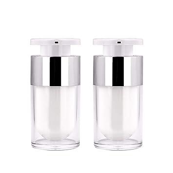 Amazon.com: Yebeauty Botella de bomba sin aire, 15 ml, 2 ...