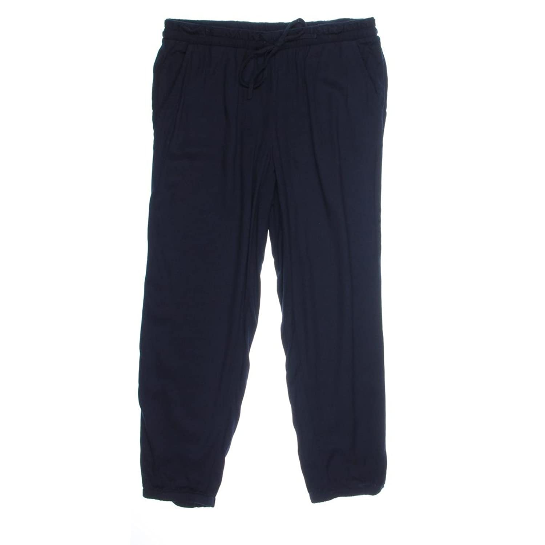 Jones New York Women's Drawstring Waist Capri Pants Navy Pants 12 X 32