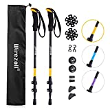 Best Hiking Poles - Trekking Poles, Wirezoll Premium Aluminum Hiking, With Natural Review