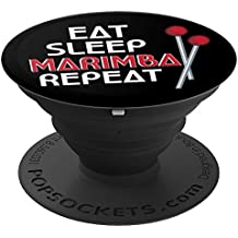 Funny Eat Sleep Marimba Repeat Marimba Player Gift - PopSockets Grip and Stand for Phones and Tablets