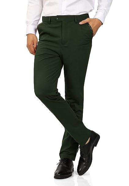 Amazon.com: WULFUL pantalones de vestir ajustados para ...