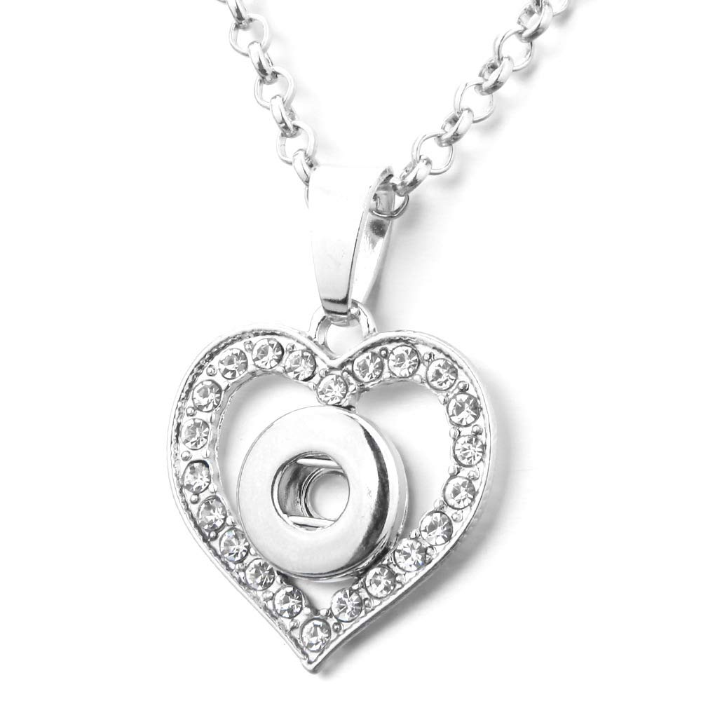 heart pendant necklace clasp DIY jewelry accessories 142