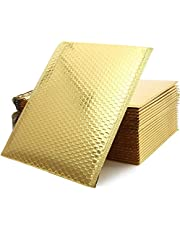 LANIAKEA 30 Pack Gold Poly Bubble Mailers, 10x13 Inch Self Seal Padded Mailing Envelopes, Waterproof and Tear-Proof Cushion Shipping Mailers Envelopes for Packaging/Mailing