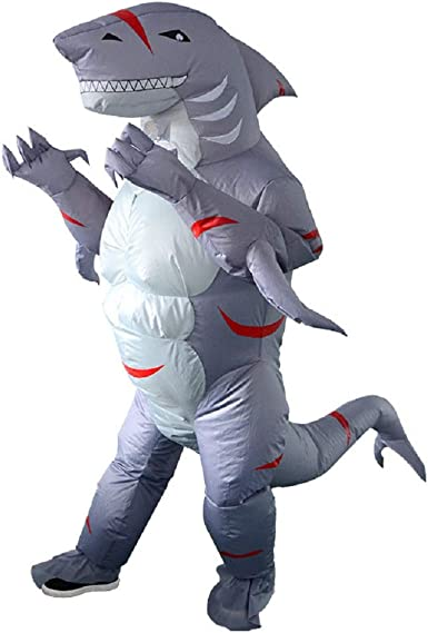 Shark Inflatable Costume Halloween Adults Party Birthday Carnival Cosplay Outfit