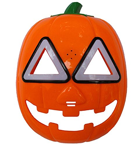 REINDEAR Halloween Pumpkin Mask LED Light Cosplay Mask